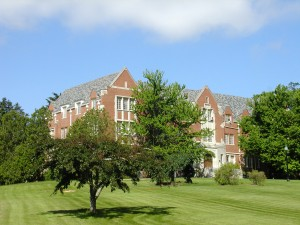 Family Studies Building, front lawn