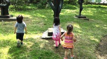 ECS children explore the outdoors