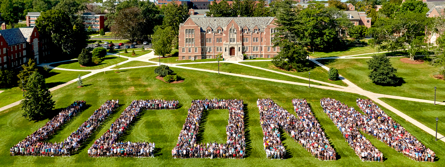 UCONN Class of 2023 FSB front lawn